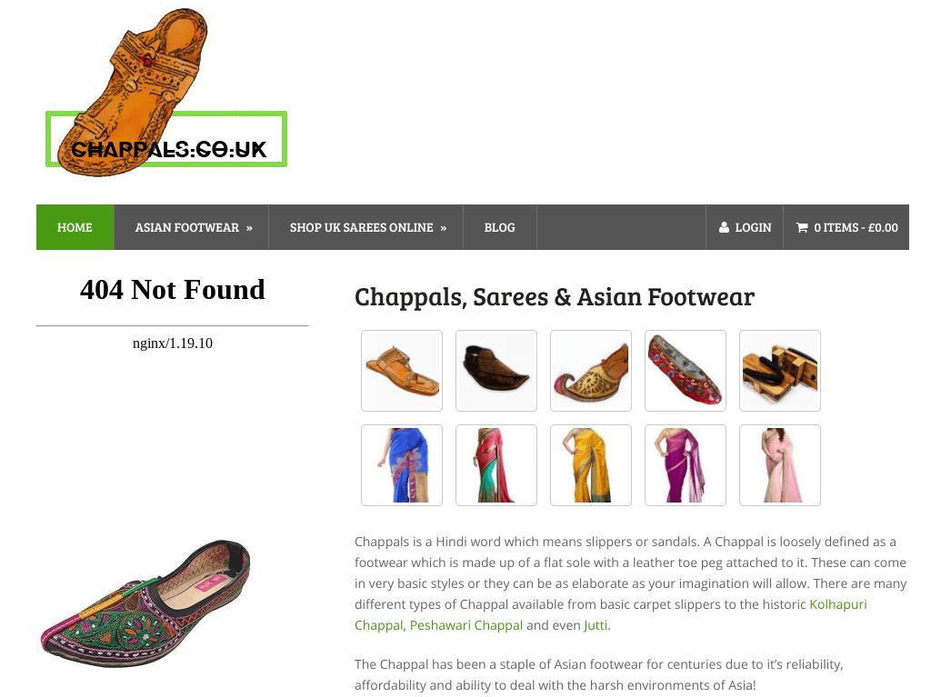 chappals.co.uk screenshot